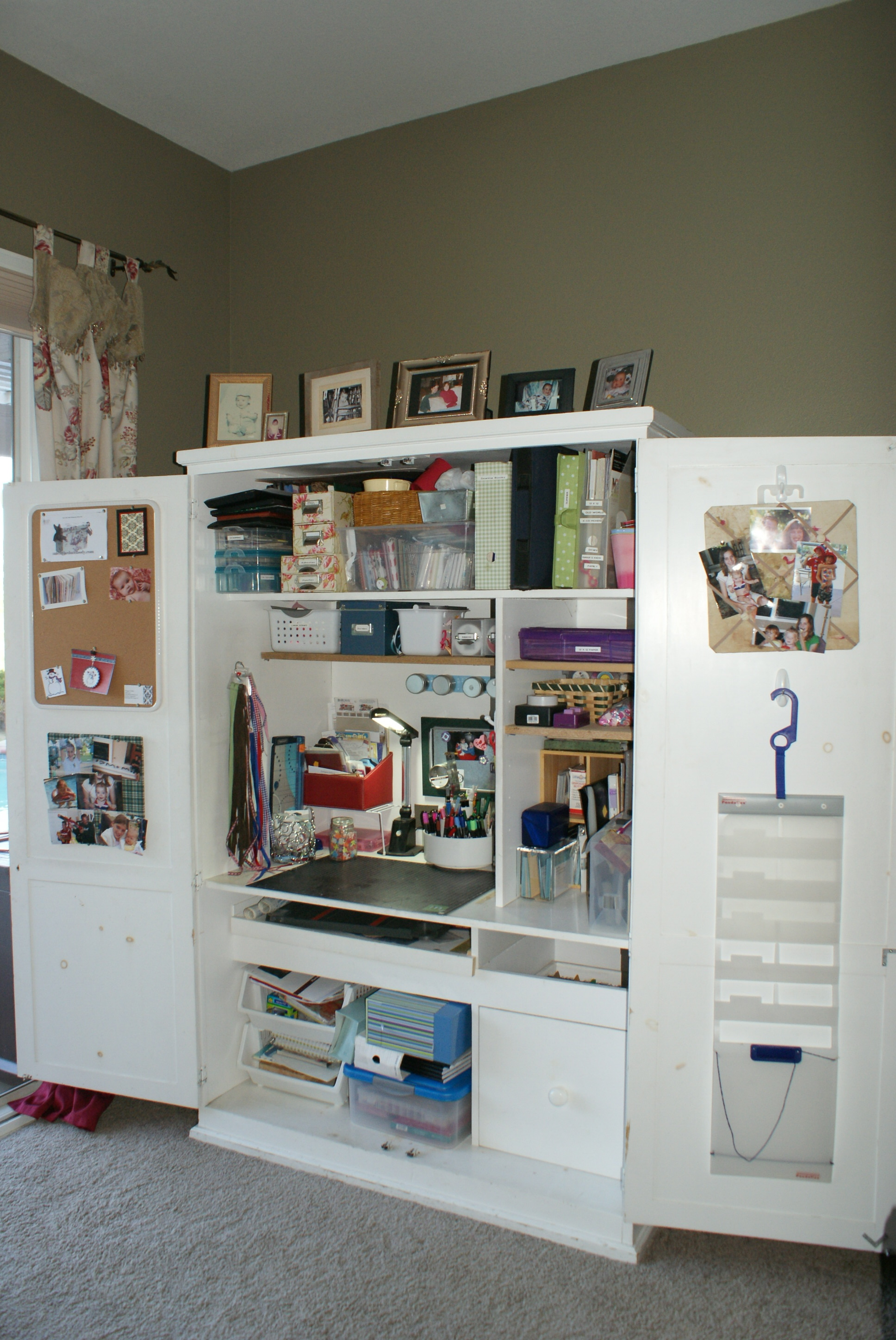 Armoire Ideas For Small Craft Spaces